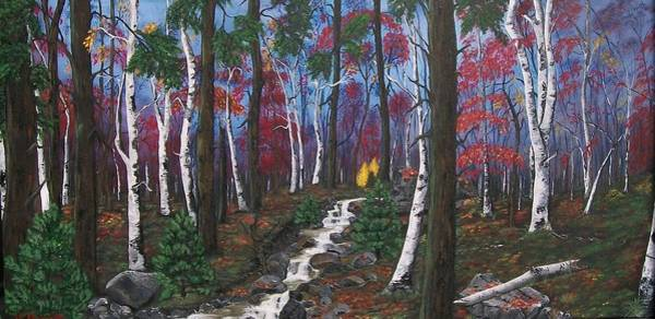 Pine Needles Painting - Autumn Colours by Sharon Duguay