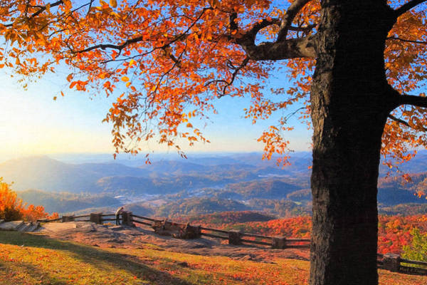 Photograph - Autumn Comes To Black Rock Mountain - North Georgia by Mark Tisdale