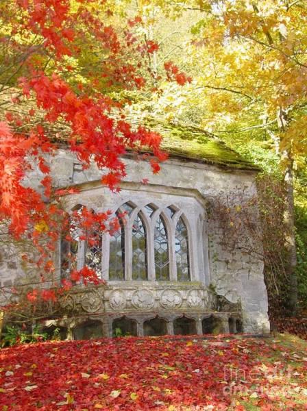 Stourhead Wall Art - Photograph - Autumn Cottage by Debra Drummond