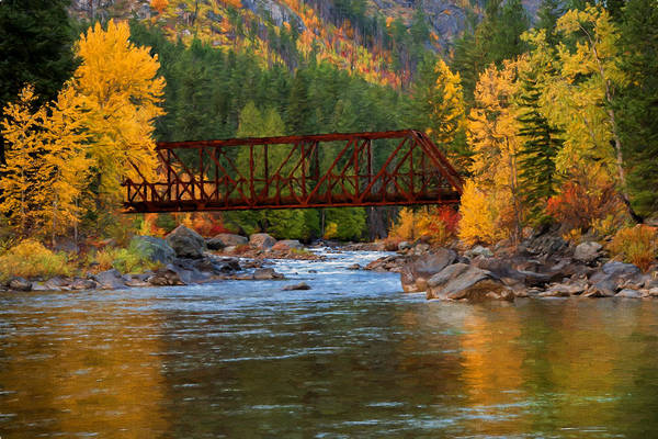 Photograph - Autumn Crossing by Mary Jo Allen