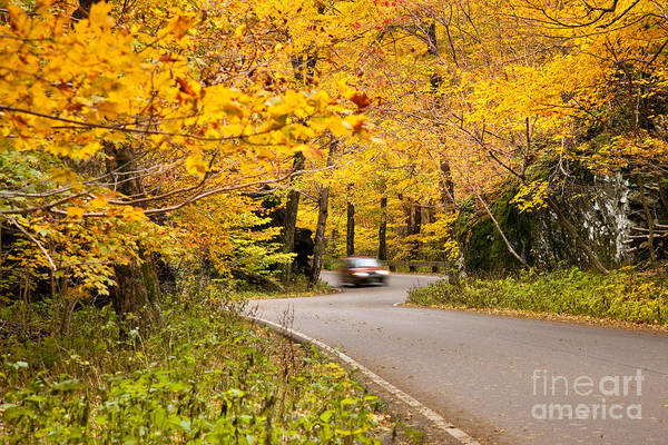 Smugglers Notch Photograph - Autumn Drive by Brian Jannsen
