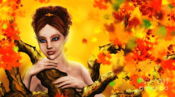 Autumn Elf Princess Art Print