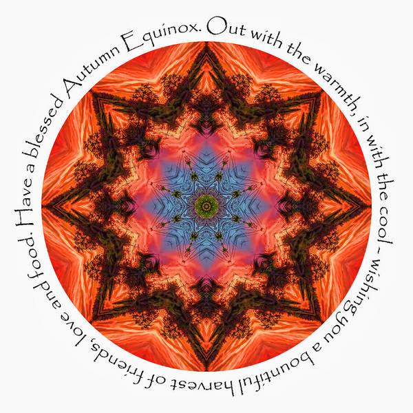 Digital Art - Autumn Equinox Mandala by Beth Sawickie