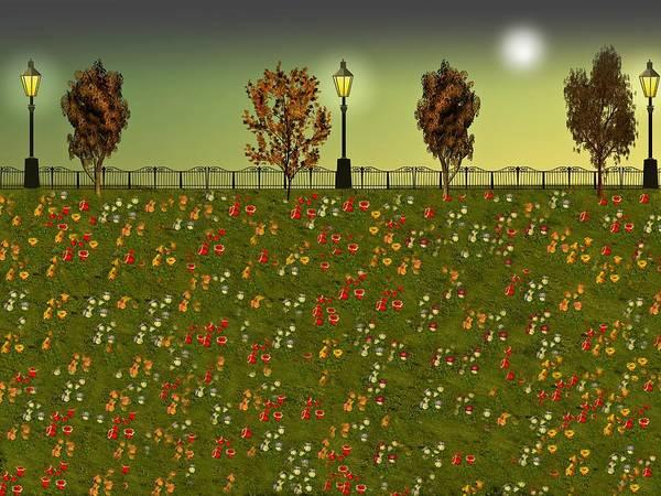 Dehner Digital Art - Autumn Evening Flowers by David Dehner
