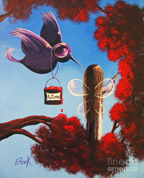 Wall Art - Painting - Autumn Fairy By Shawna Erback by Erback Art