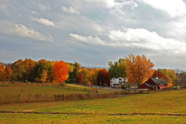 Mendon Photograph - Autumn Farm by Aimee L Maher ALM GALLERY