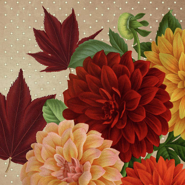Wall Art - Drawing - Autumn Flare Square 1 by MGL Meiklejohn Graphics Licensing