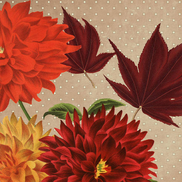 Wall Art - Drawing - Autumn Flare Square 4 by MGL Meiklejohn Graphics Licensing