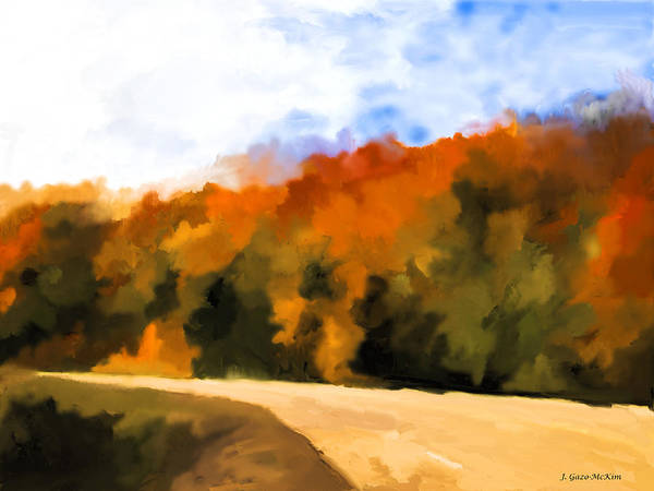 Algonquin Park Digital Art - Autumn Fringe by Jo-Anne Gazo-McKim