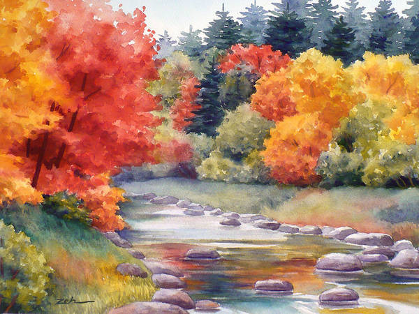 Painting - Autumn Glory by Janet Zeh
