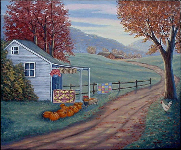 Painting - Autumn Harvest by Fran Brooks