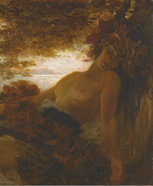 Herbert Draper Painting - Autumn by Herbert James Draper