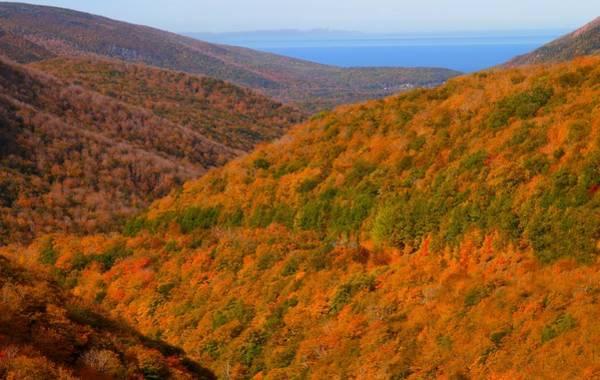 Cabot Trail Photograph - Autumn Hillsides At Cape Breton National Park by Jetson Nguyen