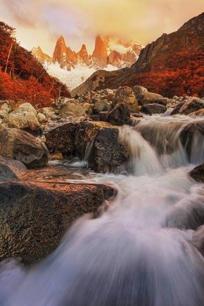 Water Fall Photograph - Autumn Impression by Yan Zhang