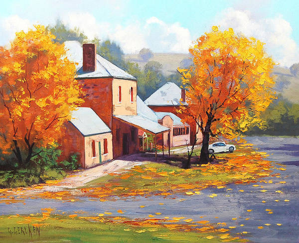 Amber Wall Art - Painting - Autumn In Carcor by Graham Gercken