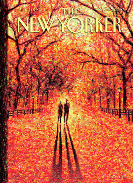 News Painting - Autumn In Central Park by Eric Drooker