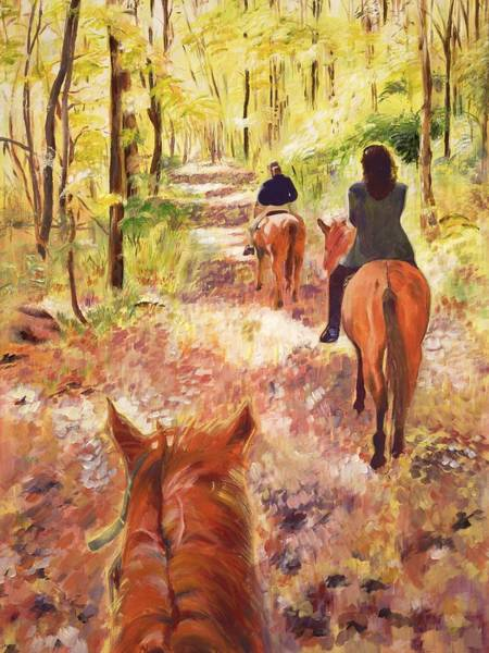 Wall Art - Painting - Autumn In Connecticut by Judy Swerlick