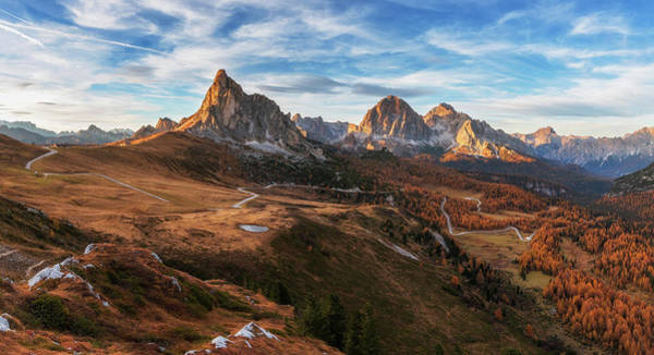Alp Photograph - Autumn In Dolomites by Ales Krivec