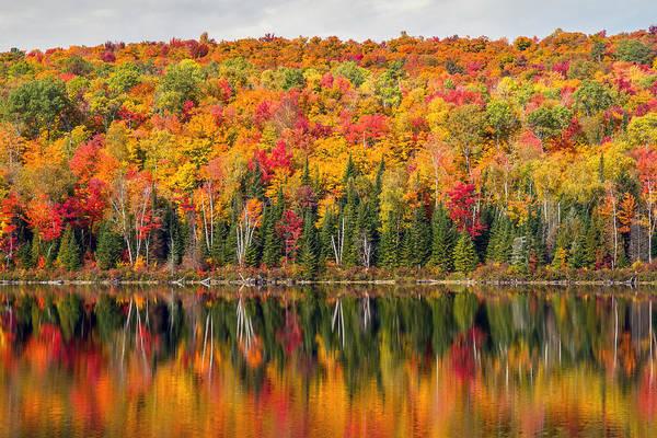 Photograph - Autumn In La Mauricie National Park by Pierre Leclerc Photography