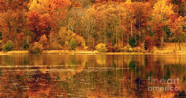Autumn In Mirror Lake Art Print