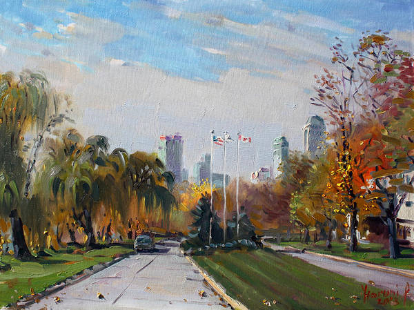 State Painting - Autumn In Niagara Falls State Park by Ylli Haruni