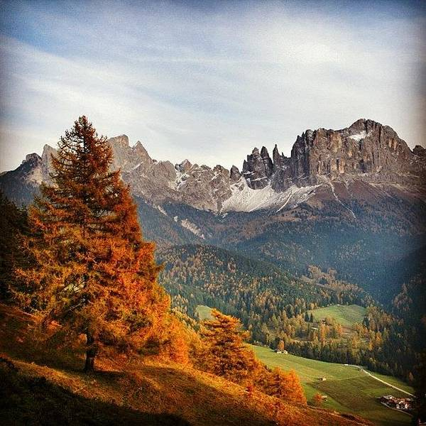 Wall Art - Photograph - Autumn In South Tyrol. Catinaccio - by Luisa Azzolini