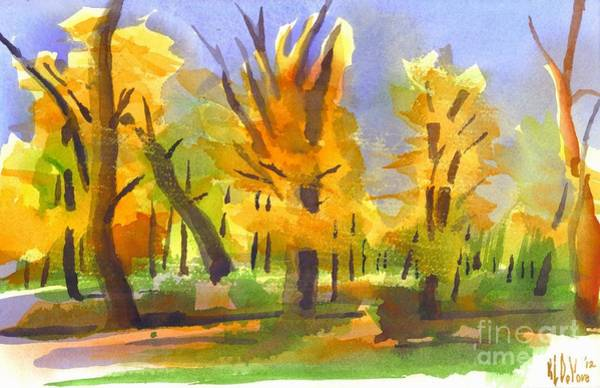 Painting - Autumn In The Forest by Kip DeVore