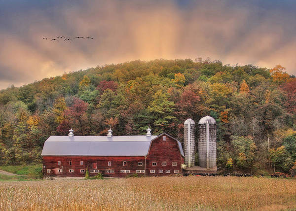 Dairy Barn Digital Art - Autumn In Wellsboro by Lori Deiter