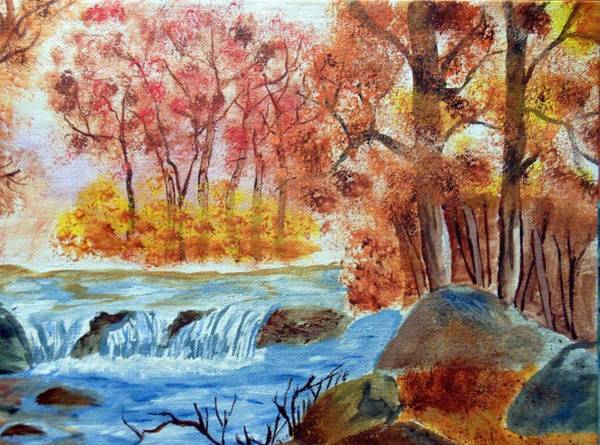 Painting - Autumn Lake by Pam Halliburton