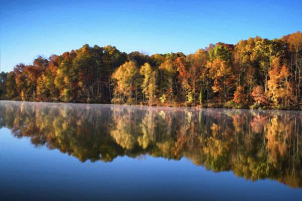 Digital Art - Autumn Lake by Patrick M Lynch