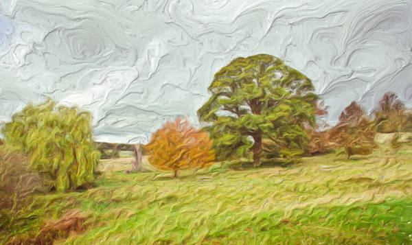 Impasto Photograph - Autumn Landscape by Tom Gowanlock