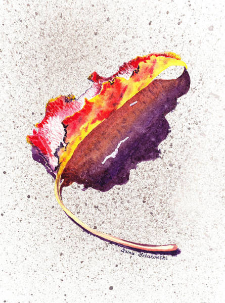 Wall Art - Painting - Autumn Leaf On Fire by Irina Sztukowski