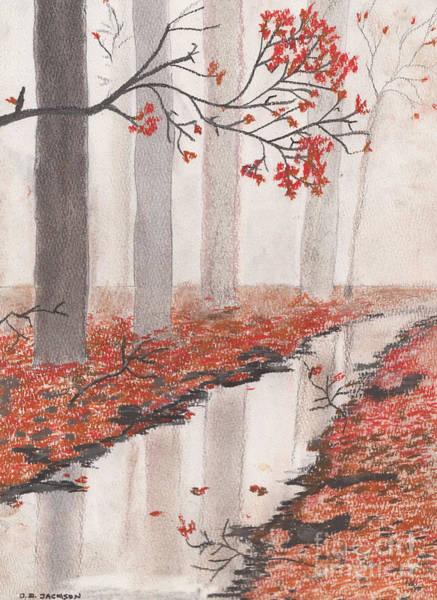 Wall Art - Pastel - Autumn Leaves by David Jackson