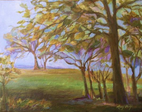 Mary Wolf Painting - Autumn Leaves by Mary Wolf