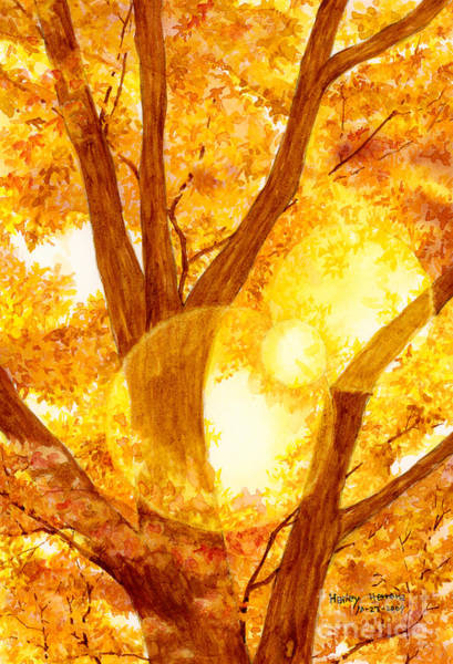 Monochrome Painting - Autumn Light by Hailey E Herrera