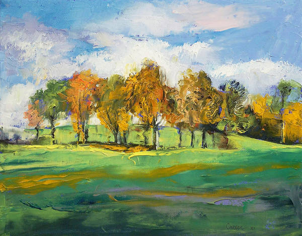 Wall Art - Painting - Autumn Light by Michael Creese