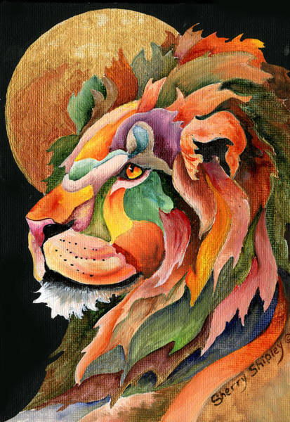 Painting - Autumn Lion by Sherry Shipley