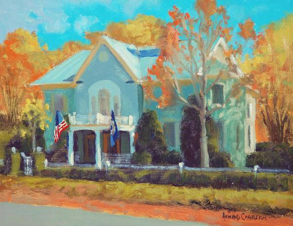 Inn Wall Art - Painting - Autumn Magic Claiborne House by Armand Cabrera