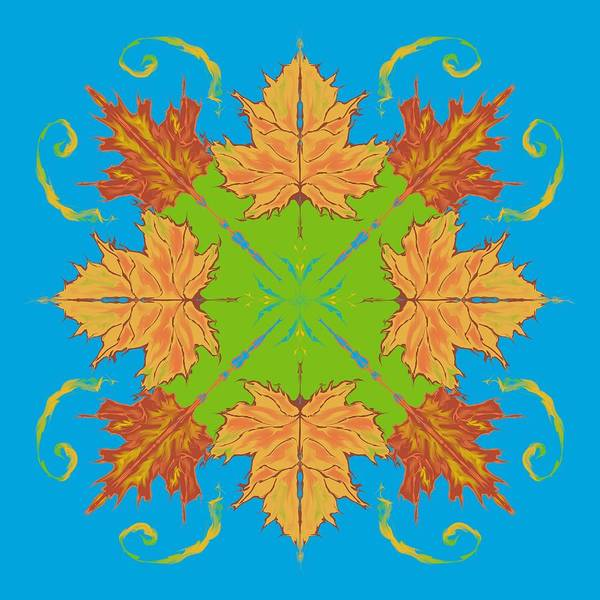 Digital Art - Autumn Maple Leaves Abstract by MM Anderson