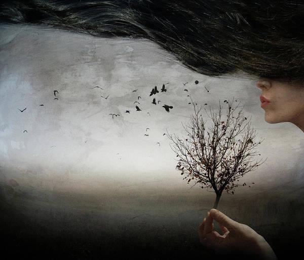 Hair Wall Art - Photograph - Autumn Mood by Elisaveta Jordanova