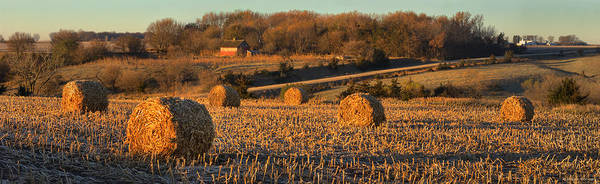 Photograph - Autumn Morning Bales by Bruce Morrison