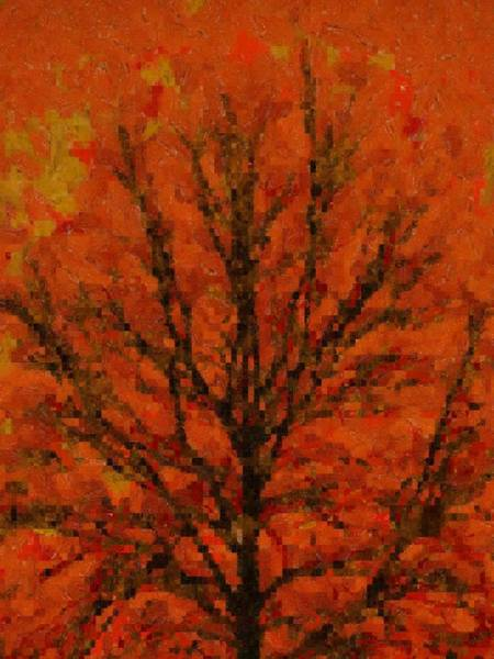 Mosaic Mixed Media - Autumn Muse Mosaic Melody by Dan Sproul