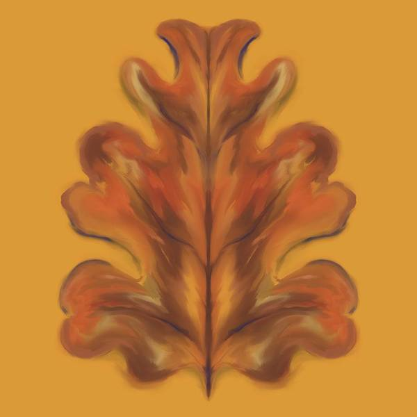 Digital Art - Autumn Oak Leaf Abstract by MM Anderson