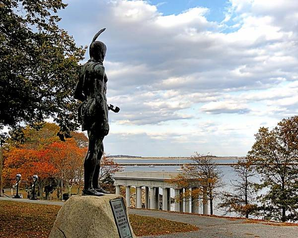 Plymouth Rock Photograph - Autumn On Coles Hill by Janice Drew