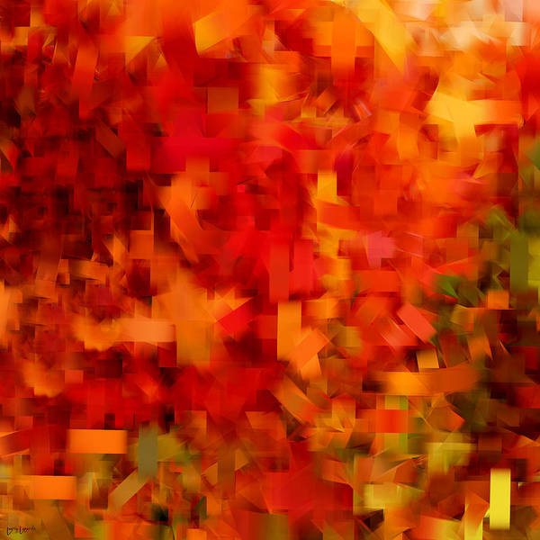 Gold Leaves Digital Art - Autumn On My Mind by Lourry Legarde