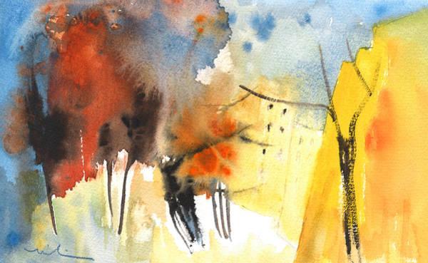 Painting - Autumn On Planet Goodaboom 02 by Miki De Goodaboom