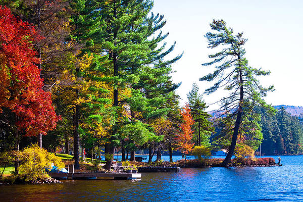 Chain Of Lakes Photograph - Autumn On The Fulton Chain Of Lake In The Adirondacks by David Patterson