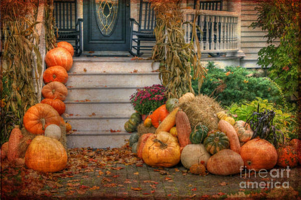 Photograph - Autumn On The Porch by David Birchall