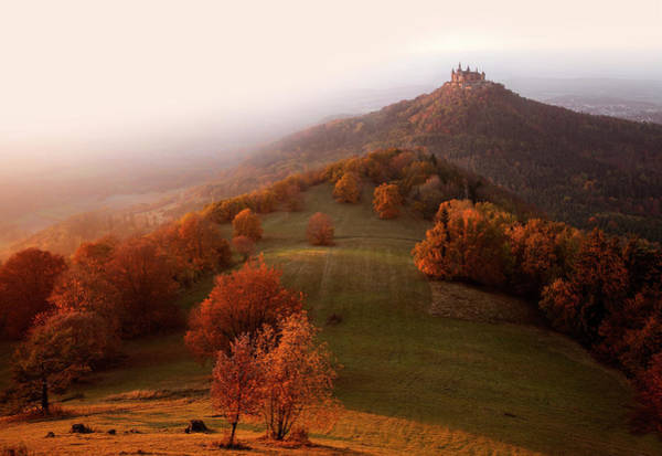 Seasonal Photograph - Autumn On The Swabian Alb by Franz Schumacher