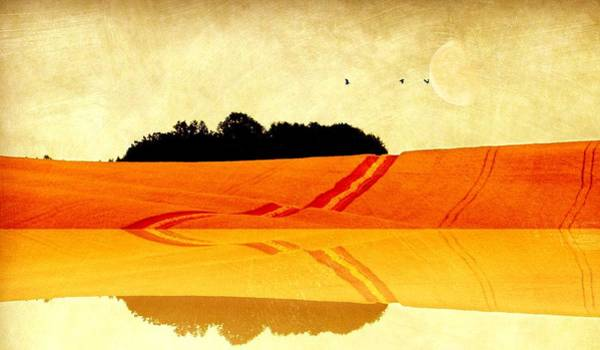 Reflections Mixed Media - Autumn Panorama by Heike Hultsch